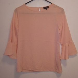 The Limited Pink Sheer Bell Sleeve Top Size XS